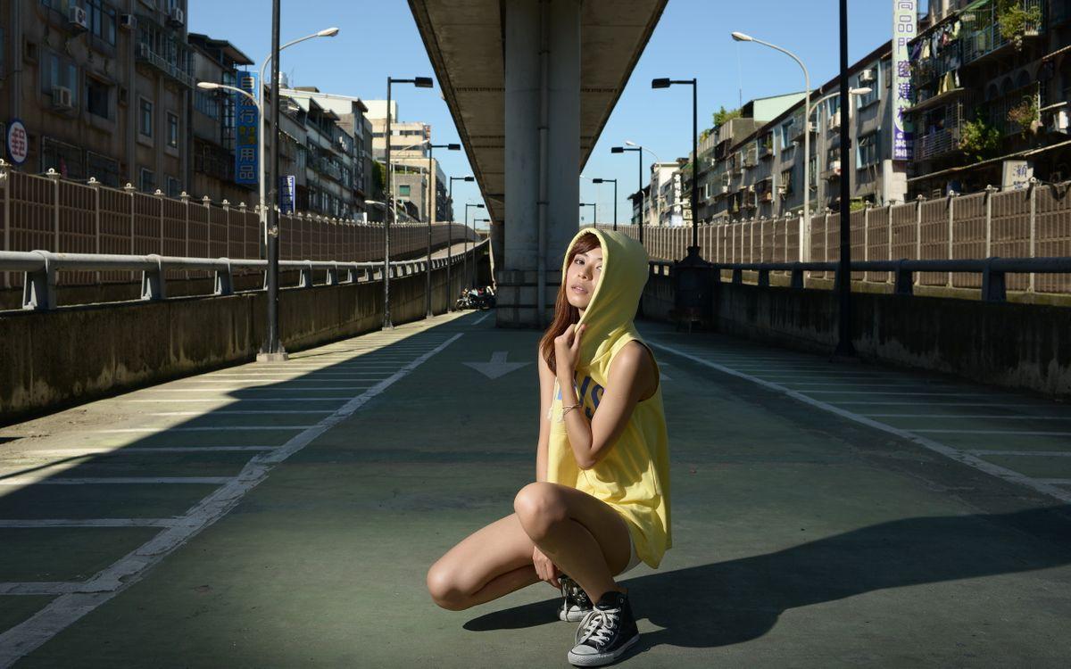 Фото бесплатно город, мост, девушка - на рабочий стол
