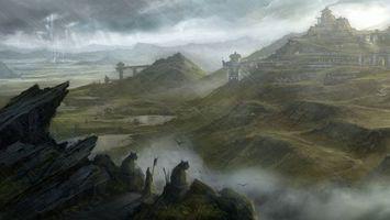Бесплатные фото горы,вершина,пик,камни,скалы,трава,здания