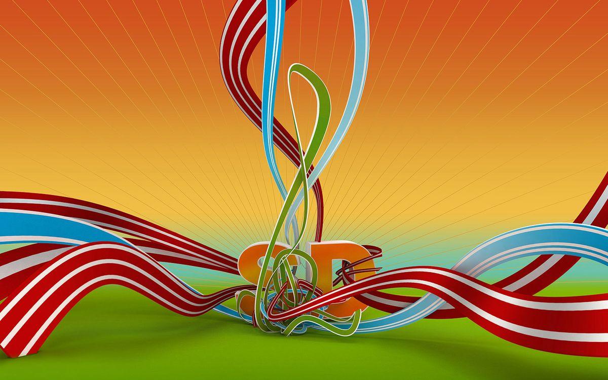 Фото бесплатно линии, буквы, волны, цвета, радуга, картинка, обои, заставка, 3d графика, абстракции, разное, разное