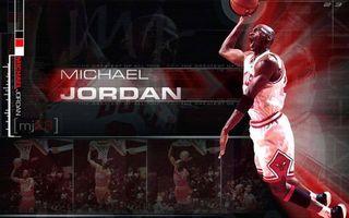 Фото бесплатно Майкл Джордан, баскетболист, легенда, прыжок, мяч, надпись