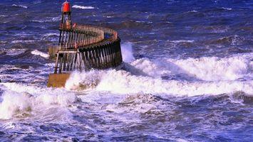 Бесплатные фото море, вода, волны, шторм, брызги, буек, пена