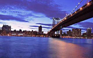Бесплатные фото мост, трос, река, вода, волны, небо, облака