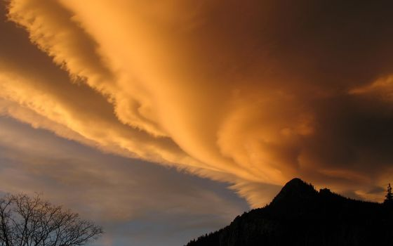 Фото бесплатно небо, облака, заря