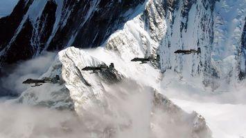 Полет возле горы