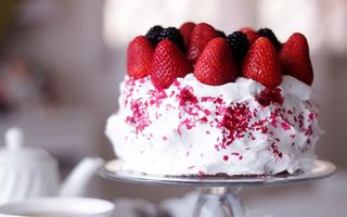 Фото бесплатно торт, крем, сливки