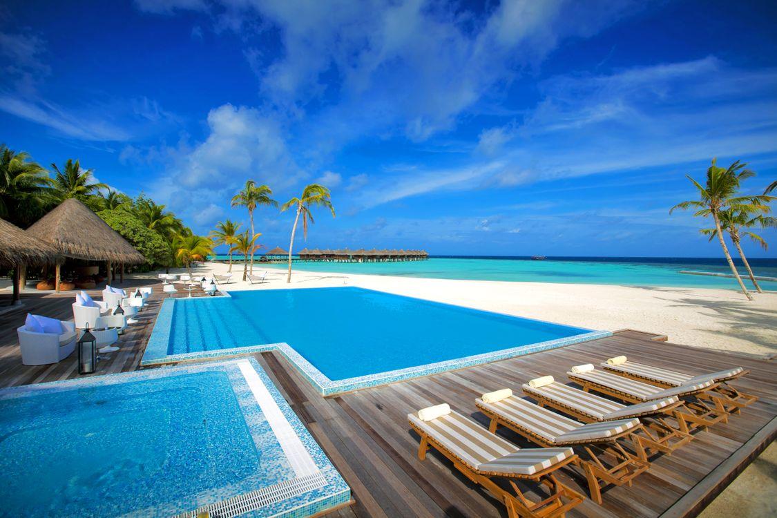 Фото бесплатно тропики, мальдивы, море, остров, пляж, бунгало, пейзажи, пейзажи
