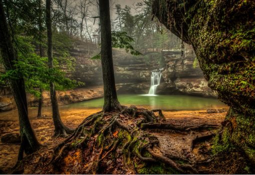Photo free Upper Falls, Old Man s Cave, Hocking Hills State Park
