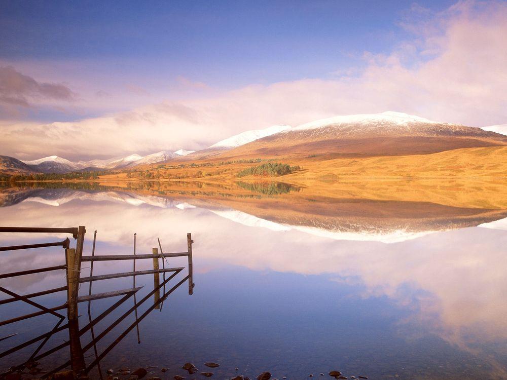 Фото бесплатно вода, река, забор, берег, холмы, небо, природа, природа