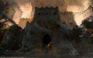 Фото бесплатно замок, окна, осень