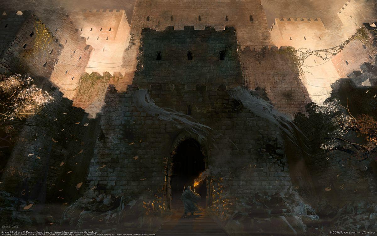 Photos for free castle, windows, autumn - to the desktop