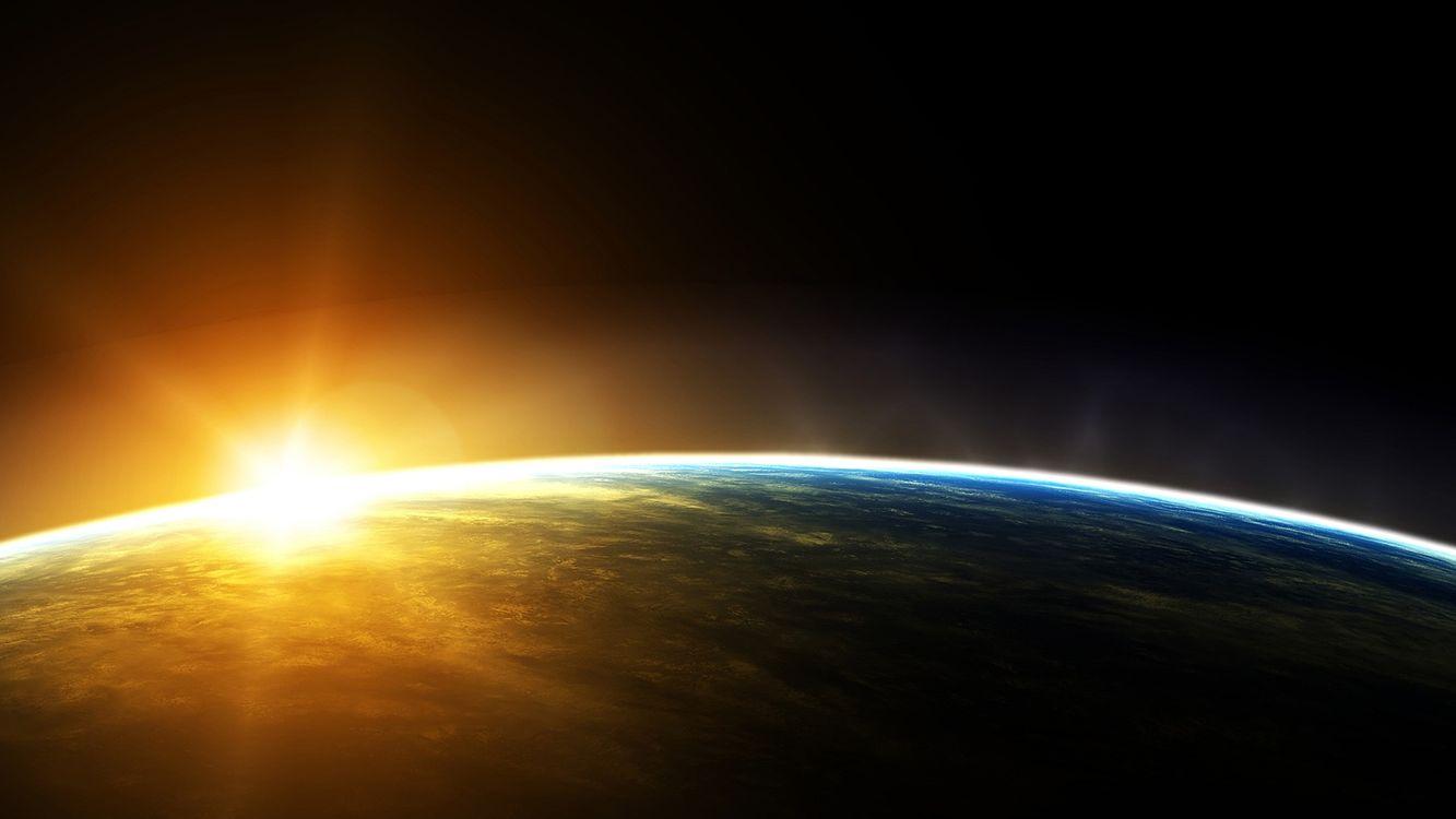 Фото бесплатно земля, орбита, солнце - на рабочий стол