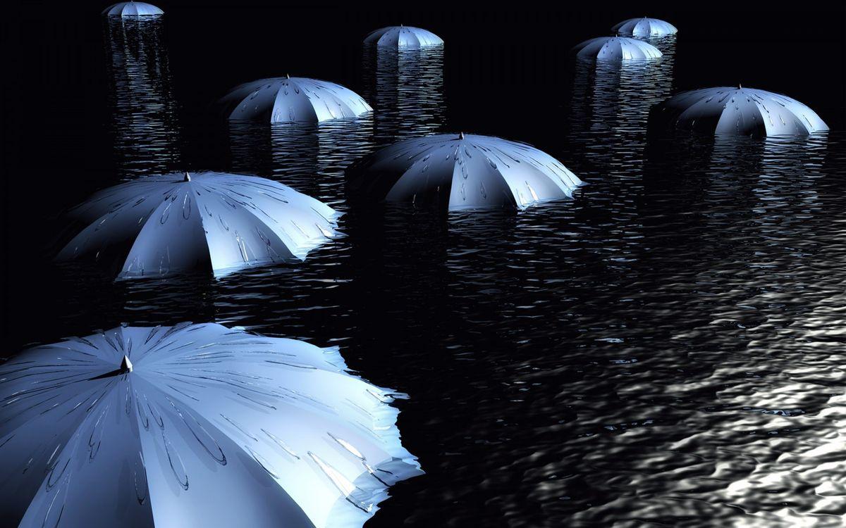 Фото бесплатно зонты, вода, брызги - на рабочий стол