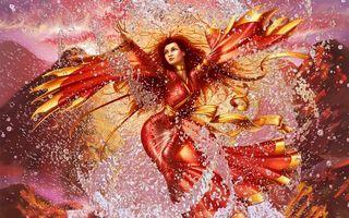 Бесплатные фото фантастика,steve argyle,вода,арт,девушка,брызги,горы
