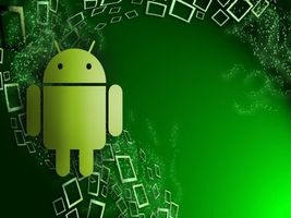 Photo free android, robot, green