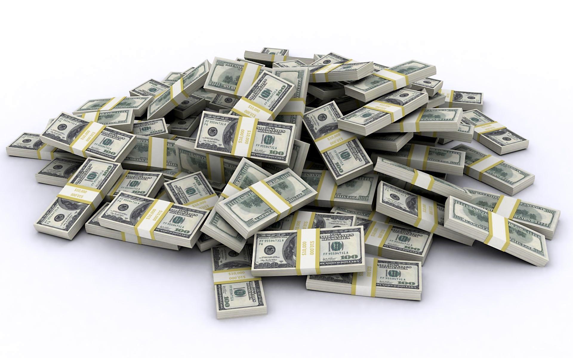 доллары, банкноты, упаковки