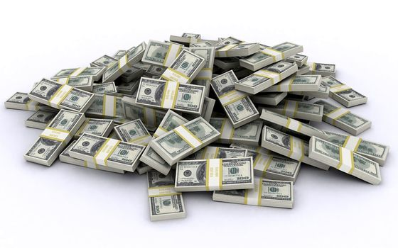 Photo free dollars, banknotes, packaging