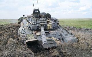 Бесплатные фото танк,полигон,застрял,земля,буксир,оружие