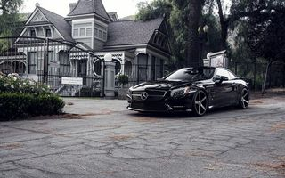 Photo free mercedes, black, house