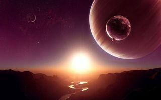 Бесплатные фото небо,звезды,созвездия,планеты,спутники,поверхность река,солнце