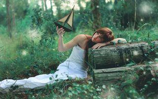 Бесплатные фото одежда, корабль, бревна, трава, деревья, взгляд, волосы