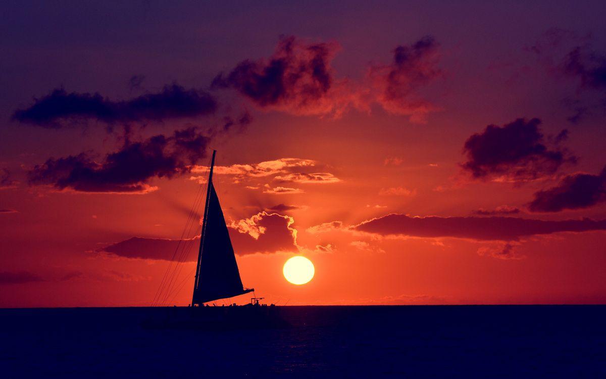 Обои парус, корабль, море картинки на телефон