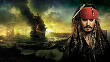 Фото бесплатно пират, джек воробей, море