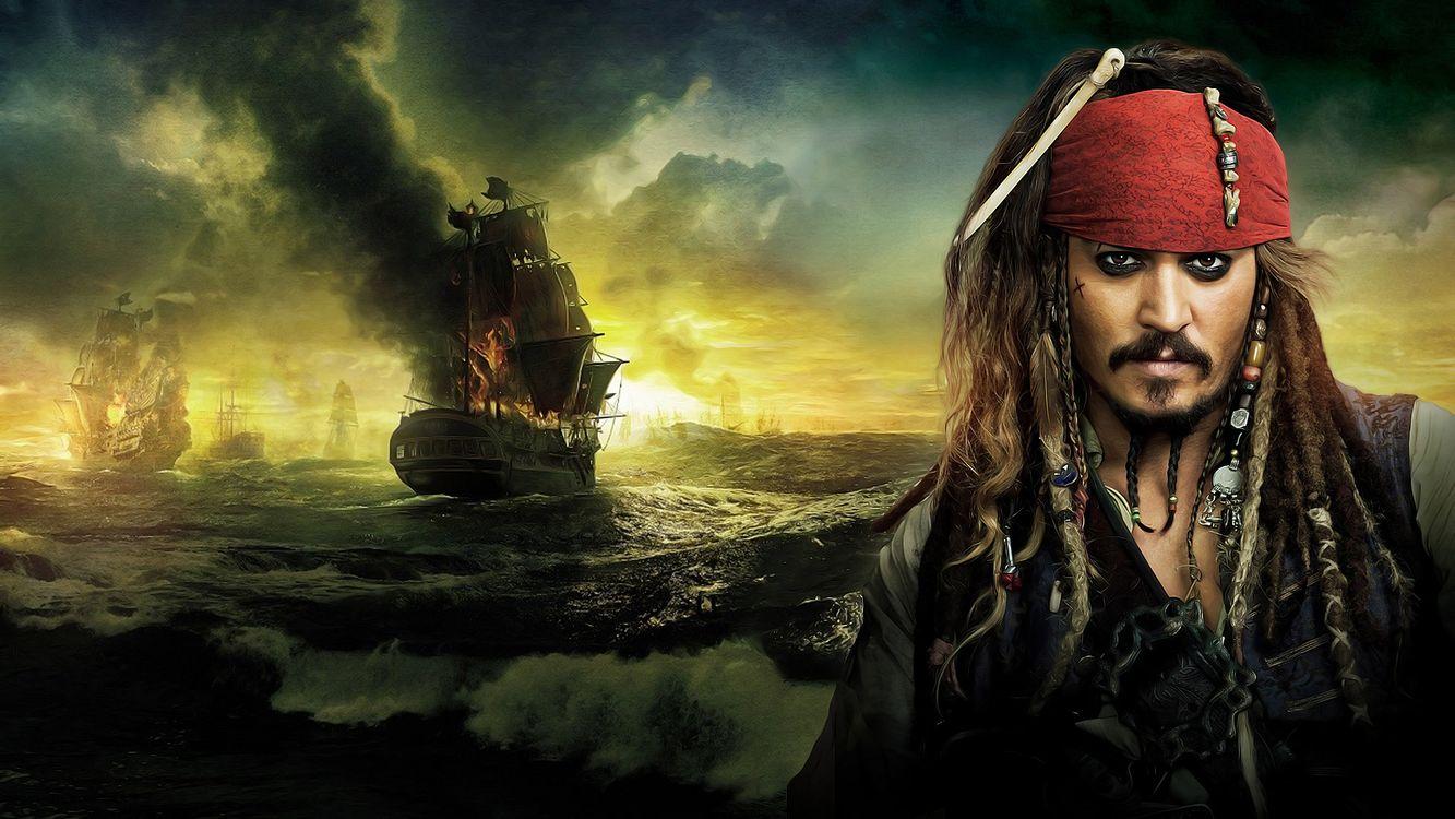 Фото бесплатно пират, джек воробей, море, джонни депп, корабль, фильмы, фильмы