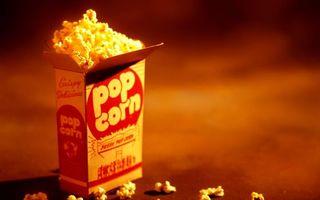 Фото бесплатно поп-корн, кукуруза, коробка