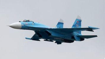 Фото бесплатно самолет, военный, синий