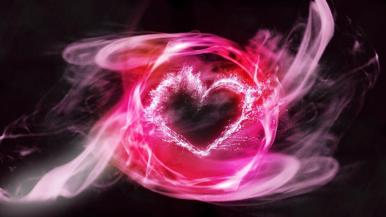 Фото бесплатно сердечко, розовое, линии - на рабочий стол