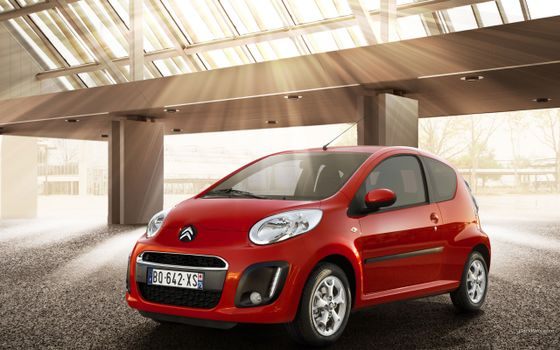 Photo free Citroen c1, small car, lights