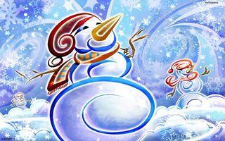 Фото бесплатно снеговик, картинка, нос