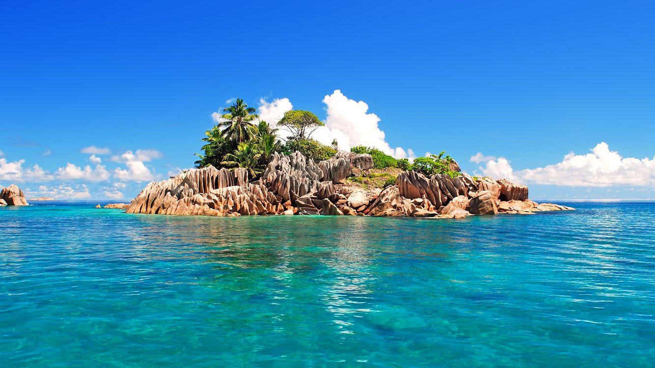 Фото бесплатно тропики, сейшелы, море, остров, пейзажи, пейзажи