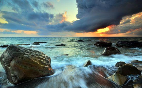 Photo free sunset, evening, sea