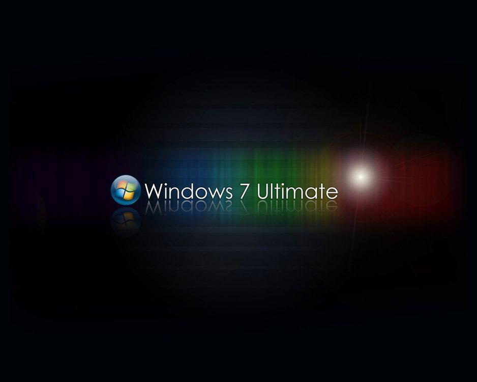 Фото бесплатно windows 7, ultimate, заставка, обои, фон, черный, цвет, надпись, виндовс, круг, шарик, логотип, разное, hi-tech, hi-tech