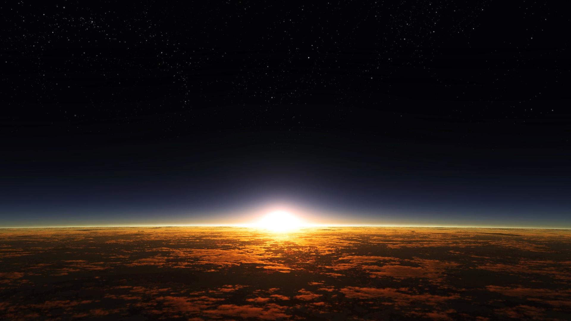земля, солнце, восход