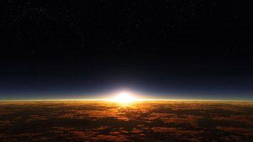 Заставки земля,солнце,восход,или закат,хрен его знает,космос