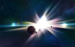 Фото бесплатно вспышка, сияние, звезды