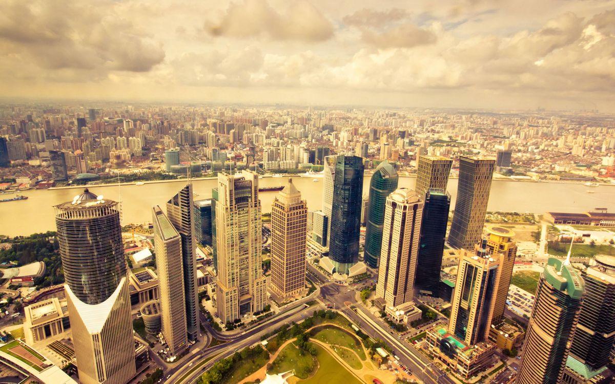 Фото бесплатно view, city, фото, вид, город, skyscrapers, panorama, мегаполис, overlooking, разное