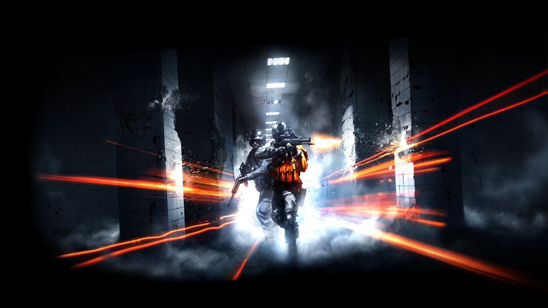 battlefield, коридор, тоннель
