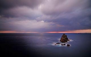 Бесплатные фото риф,океан,скала,небо,облака,пейзажи