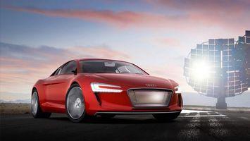 Photo free Audi, red, xenon