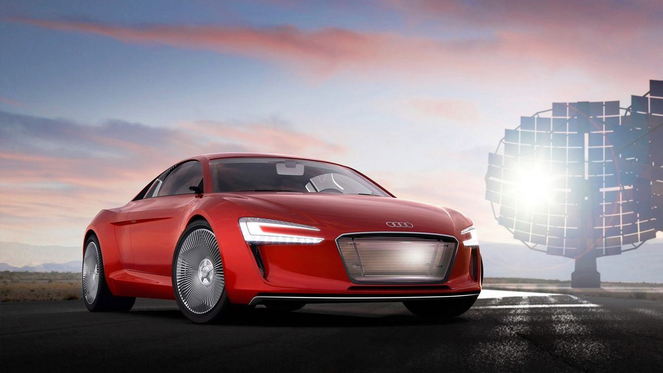 Free photo Audi, red, xenon - to desktop