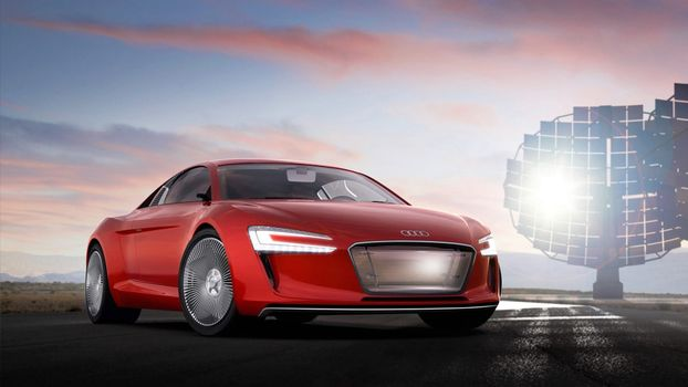 Photo free Audi, red, xenon