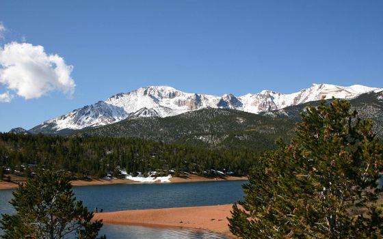 Фото бесплатно скалы, небо, лес