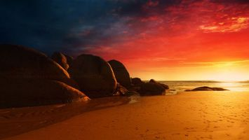 Заставки песок, пейзажи, камни