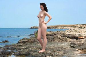 Заставки blanca, брюнетка, сексуальная, горячая, восхитительная, натуральная, ню, улица, пляж, эротика