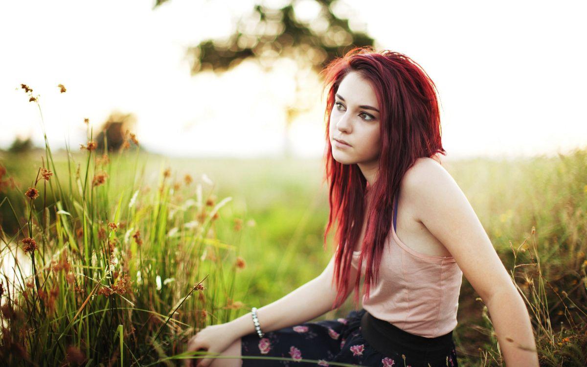 Фото бесплатно девушка, рыжая, фотосет - на рабочий стол