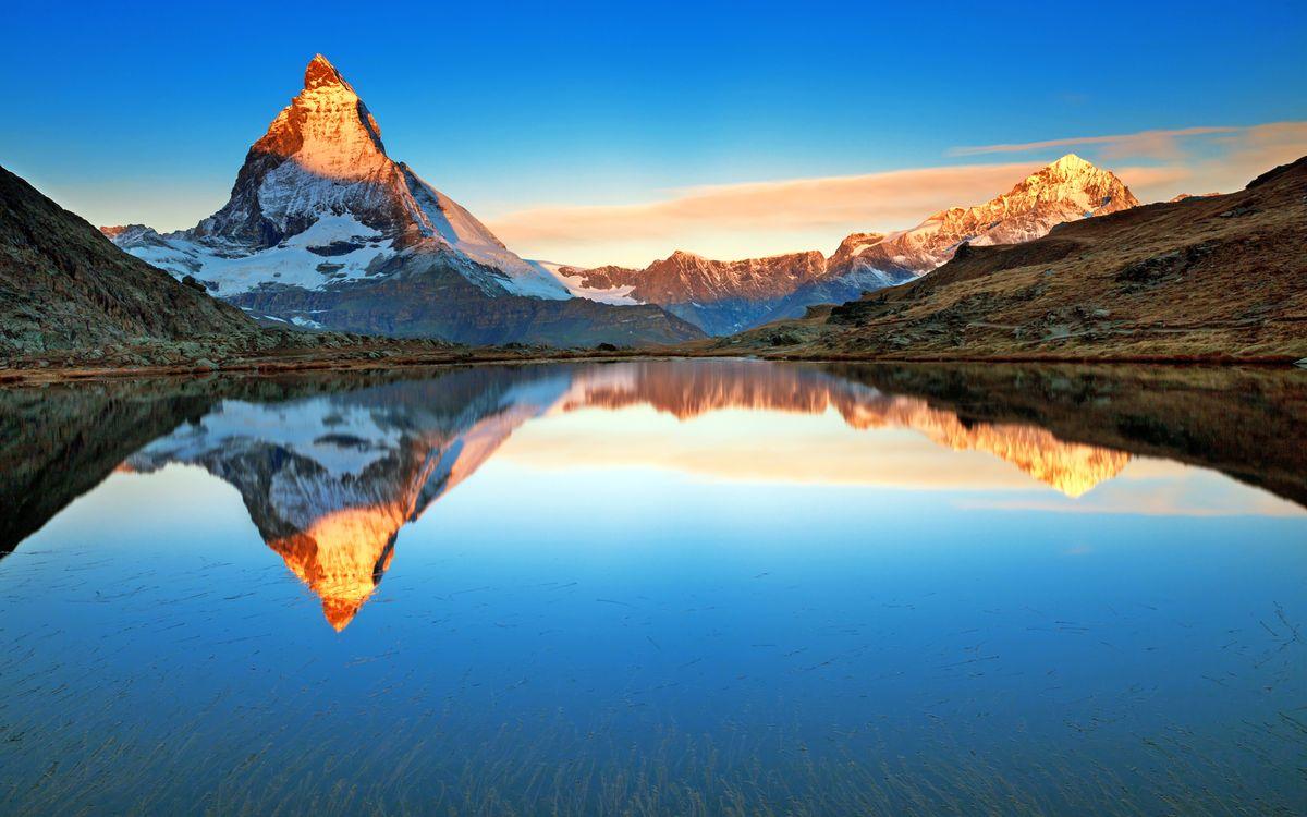 Фото бесплатно горы, озеро, отражение, пейзажи, пейзажи
