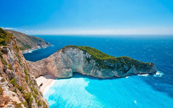 Фото бесплатно греция, море, скалы